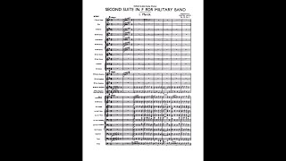 Holst - Second Suite in F for Military Band Op. 28 (Score)