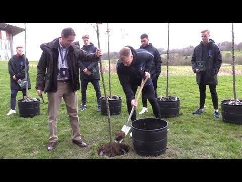 England Players Plant Trees To Honour Players Killed In WW1