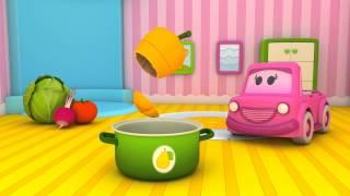 Schlaue Autos lernen Gemüse. Zeichentrickfilm für Kinder