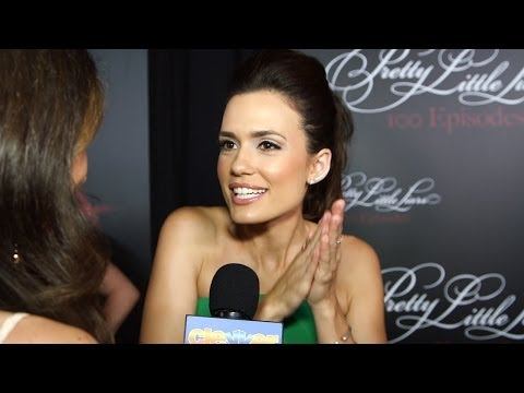 """Torrey DeVitto Shares Craziest """"A"""" Theory & PLL Memory - Pretty Little Liars 100th Episode Party"""
