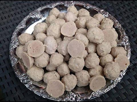 How to make meet balls (pork) Lao food