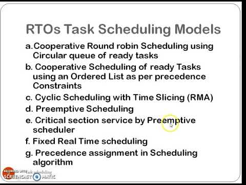 Task Scheduling for RTOs