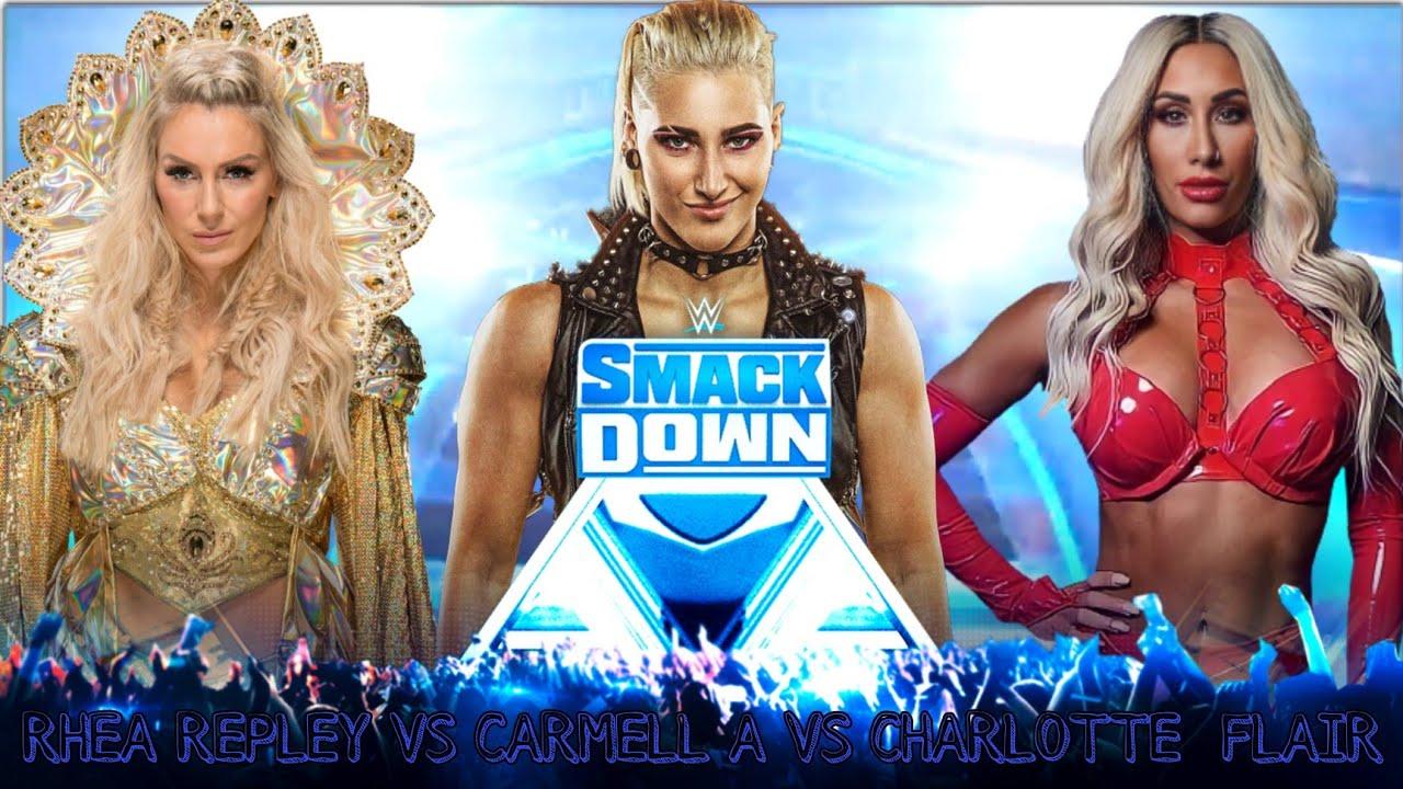 SmackDown Carmellla vs Charlotte Flair vs rhea Repley #WWE2K20