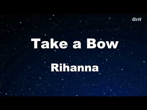 Take a Bow  Rihanna Karaoke 【No Guide Melody】 Instrumental