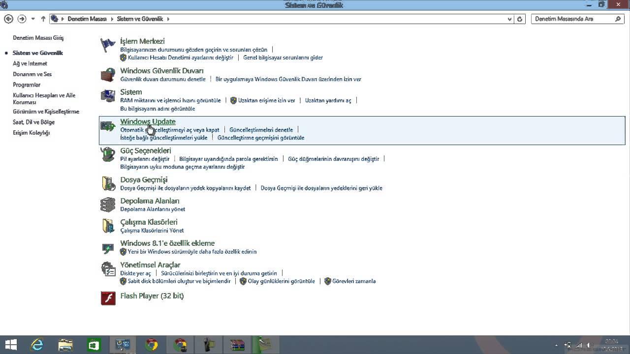 Windows XP Güncelleştirme Adımları