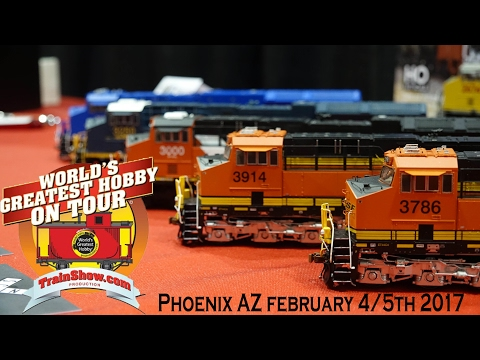 Worlds Greatest Hobby On Tour In 4k! Phoenix, AZ 2017: With Scaletrains Tier 4's!