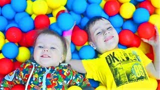 Five Little Babies Jumping on the Bed Indoor Playground Family Fun Nursery Rhymes Song