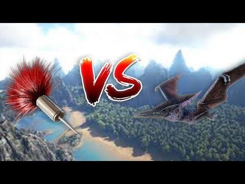 TRANQUILIZER DART VS PTERADON ! (Ark Extinction DLC Server)