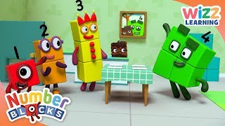 Numberblocks - Four's Dinner Party | Learn to Count | Wizz Learning