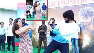 Karthikeya & Anagha Dance At Guna 369 Movie Promotion Guna 369 Movie