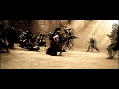 300 Slow Motion Fight  Gerard Butler