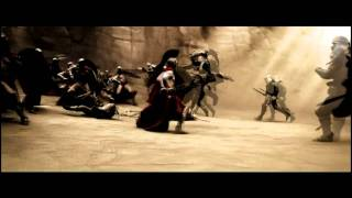 300 (Slow Motion Fight Scene) Gerard Butler