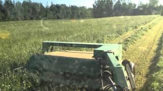 john deere 1360 discbine cutting hay