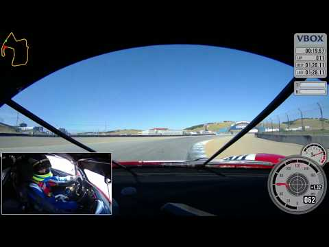 Guy Cosmo: Ferrari 488 Challenge Lap at Laguna Seca / VBOX Video HD2