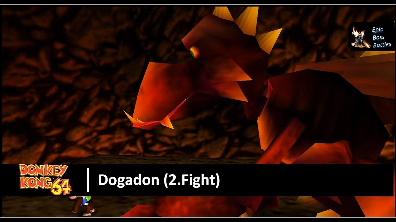 Donkey Kong 64 - Dogadon Boss Battle (2.Fight) - YouTube  Donkey Kong 64 ...