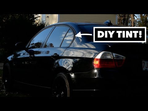 FINALLY Tinted My BMW // How To Tint A Car
