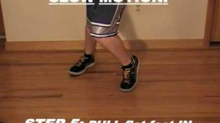 How to GLIDE tutorial...Michael Jackson Moonwalk dance!