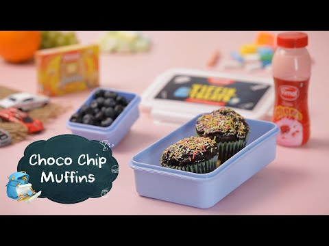 Eggless Choco Chips Muffins | Chocolate Muffin Recipe By Ripu Daman Handa | Tiffin Recipes For Kids