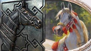 Лошади в искусстве #ИППОсфера конная выставка /скульптор Юлия Роткова и художник Дмитрий Лучанов