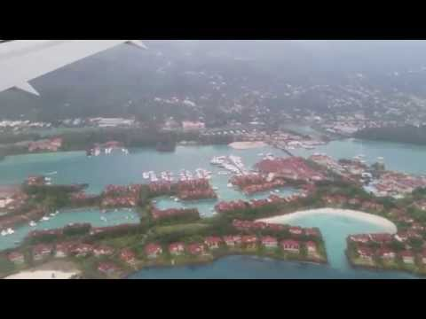 Landing Seychelles - Mahe International Airport