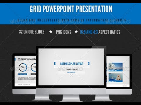 grid powerpoint (photoshop) template free - youtube, Presentation templates