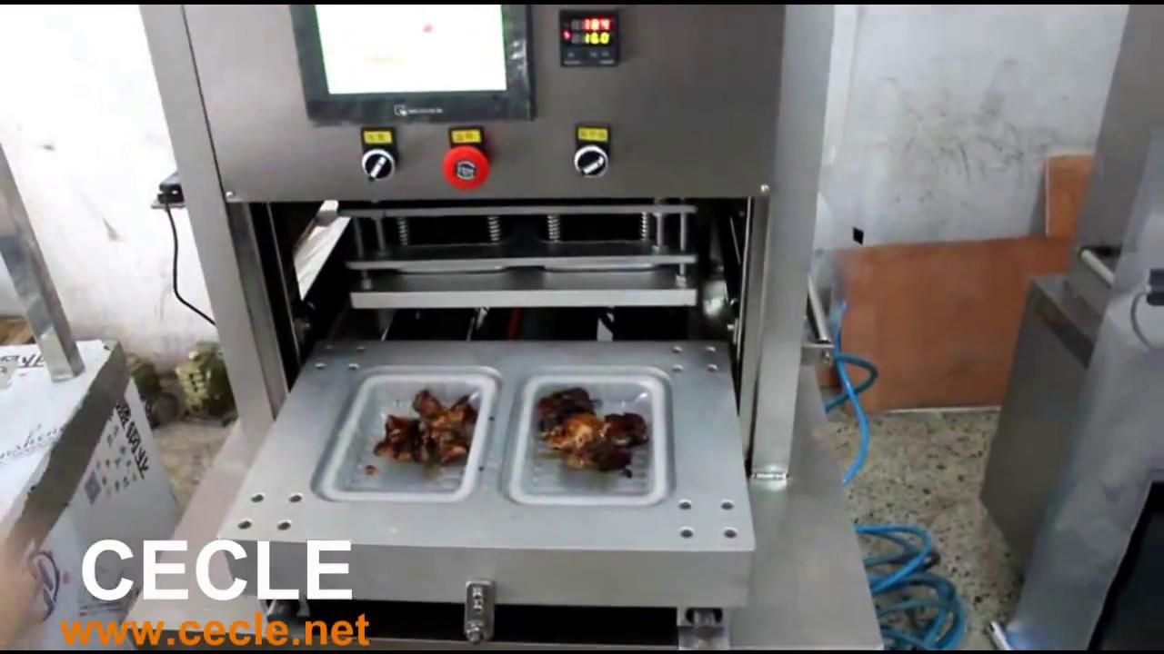 4f448b5f0af Modified Atomosphere Packaging MAP Food Tray Vacuum Sealing Machine ...