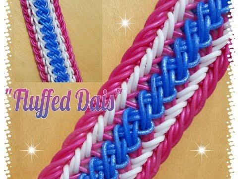 """New """"Fluffed Dais"""" Rainbow Loom Bracelet/ How To Tutorial"""