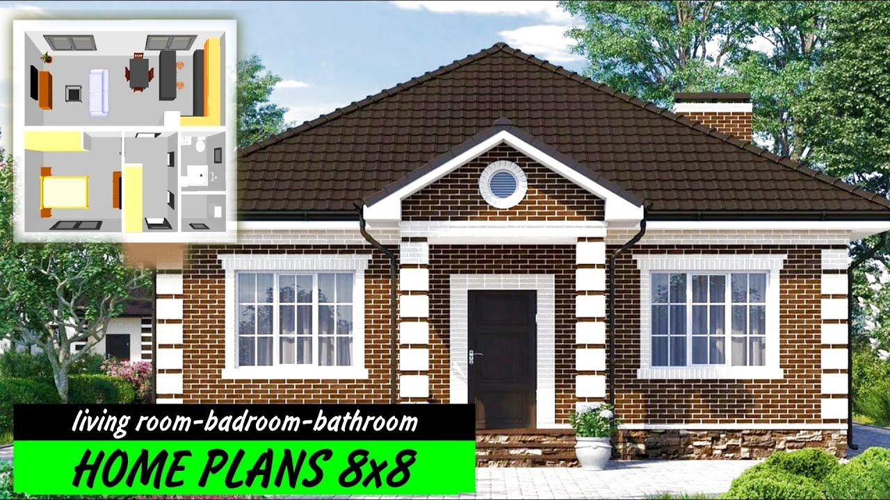 Home Plans 8x8 Floor Plan Youtube