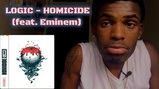 Logic - Homicide (feat. Eminem) | REACTION