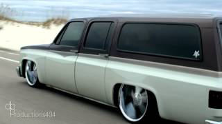 """DayandNight"" Body Drop Chevy Suburban c10 Air ride suspension bagged"