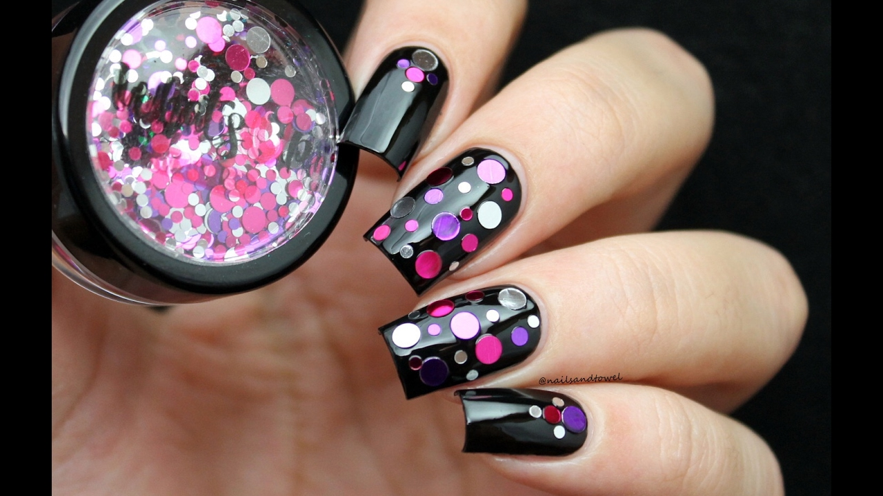Super Easy Confetti Nails Unnecessary Tutorial
