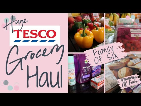 HUGE TESCO GROCERY HAUL & MEAL PLAN UK | WEEKLY FOOD SHOP 2020 | FAMILY OF 6 | MUMMY OF FOUR