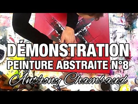 D monstration comment r aliser un tableau abstrait rouge - Tableau rouge et noir ...