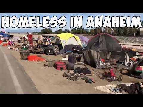 Homeless People in Anaheim, California or Third World Country?