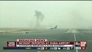 Plane makes crash landing at Dubai airport