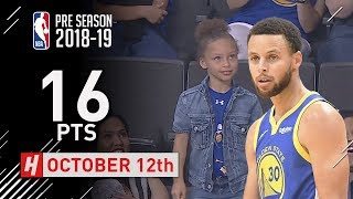 Stephen Curry Full Highlights Lakers vs Warriors - 2018.10.12 - 16 Pts, 3 Ast, 2 Rebounds!