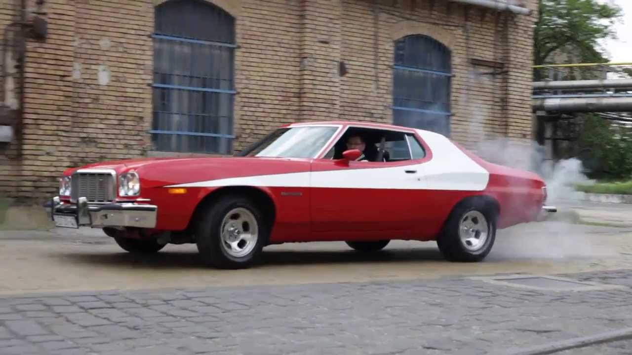 1975 ford gran torino s h burnout youtube. Black Bedroom Furniture Sets. Home Design Ideas