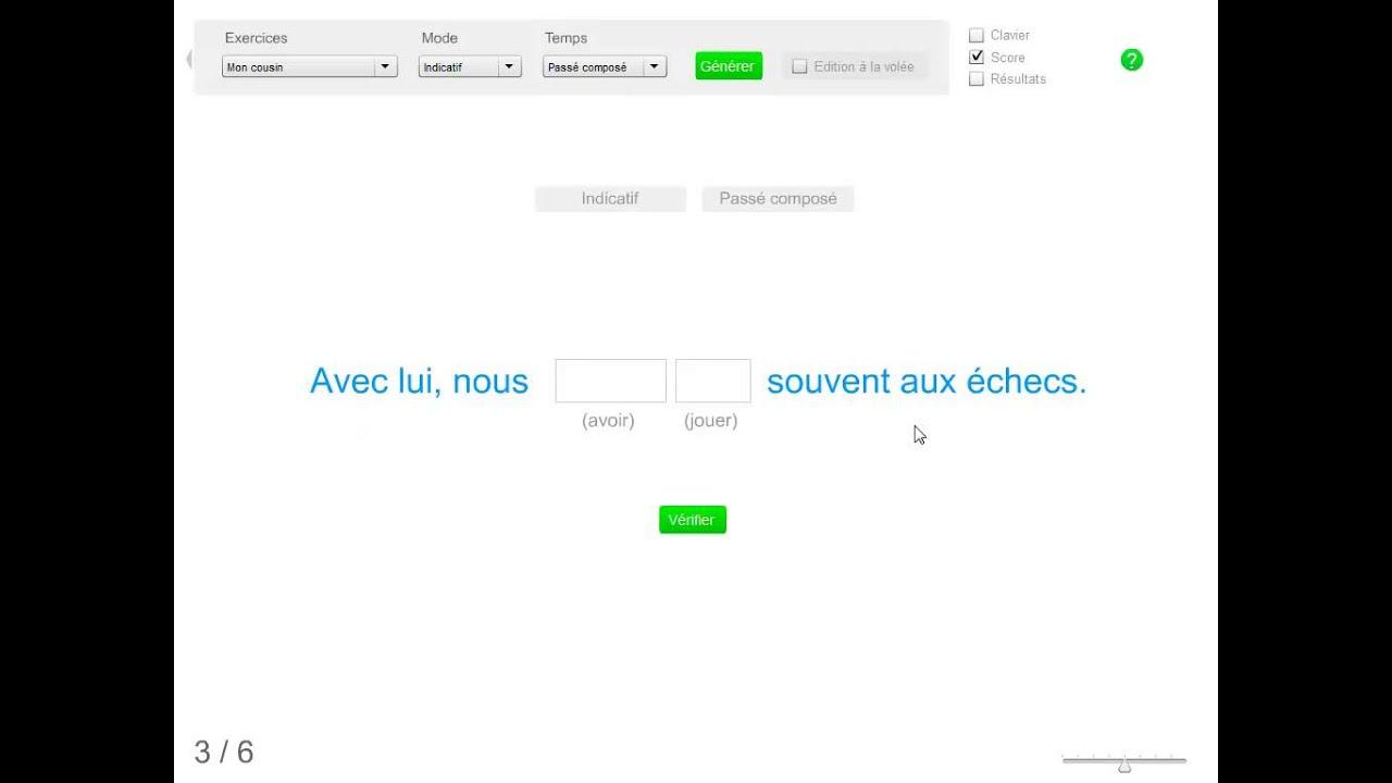 Une Application De Conjugaison Conjuguer Un Verbe Dans Une Phrase Youtube