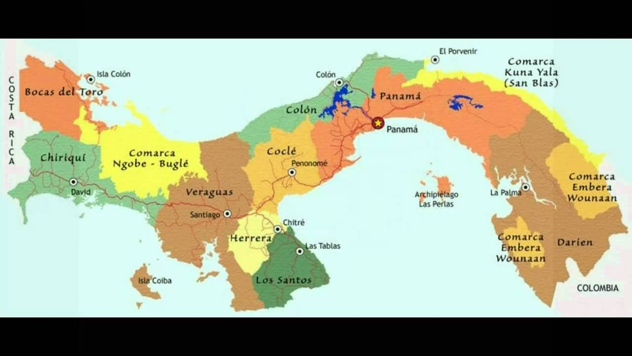 Panama On Map Of World.A Simple Introduction To The Map Of Panama See Note Below For New
