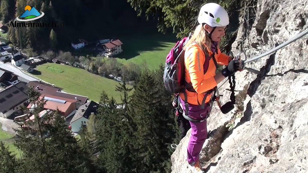 St Jodok Klettersteig : Peter kofler klettersteig stafflacher wand youtube