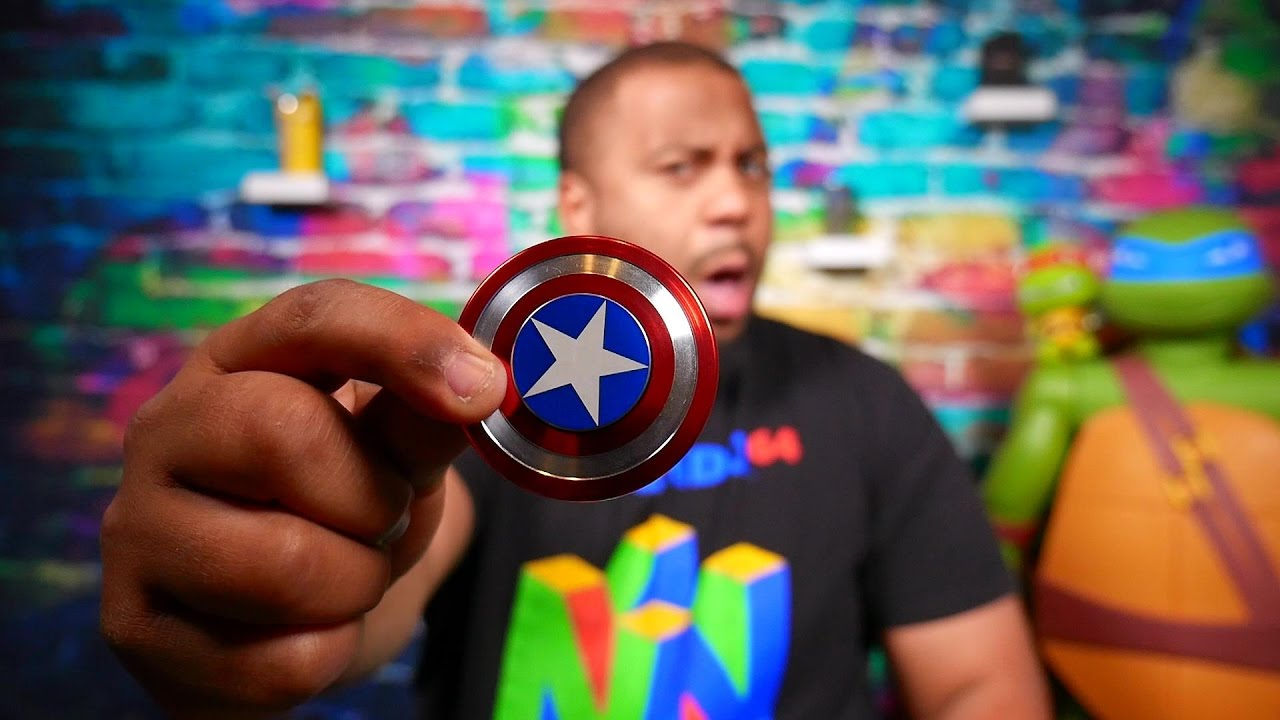 Captain America Shield Fidget Spinner Review Does It Suck Youtube Metal Alumunium