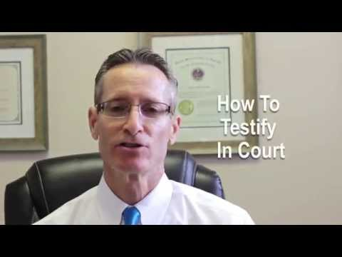 Tips on how to prepare to testify in court.