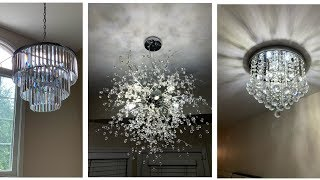 Modern Glam Crystal Chandeliers ||💕Home Improvement Series - #2💕
