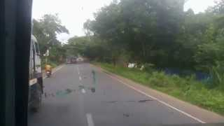 typical KERELA style overtaking by alapuzzha ernakulam KERELA SRTC {KSRTC} SUPER FAST BUS