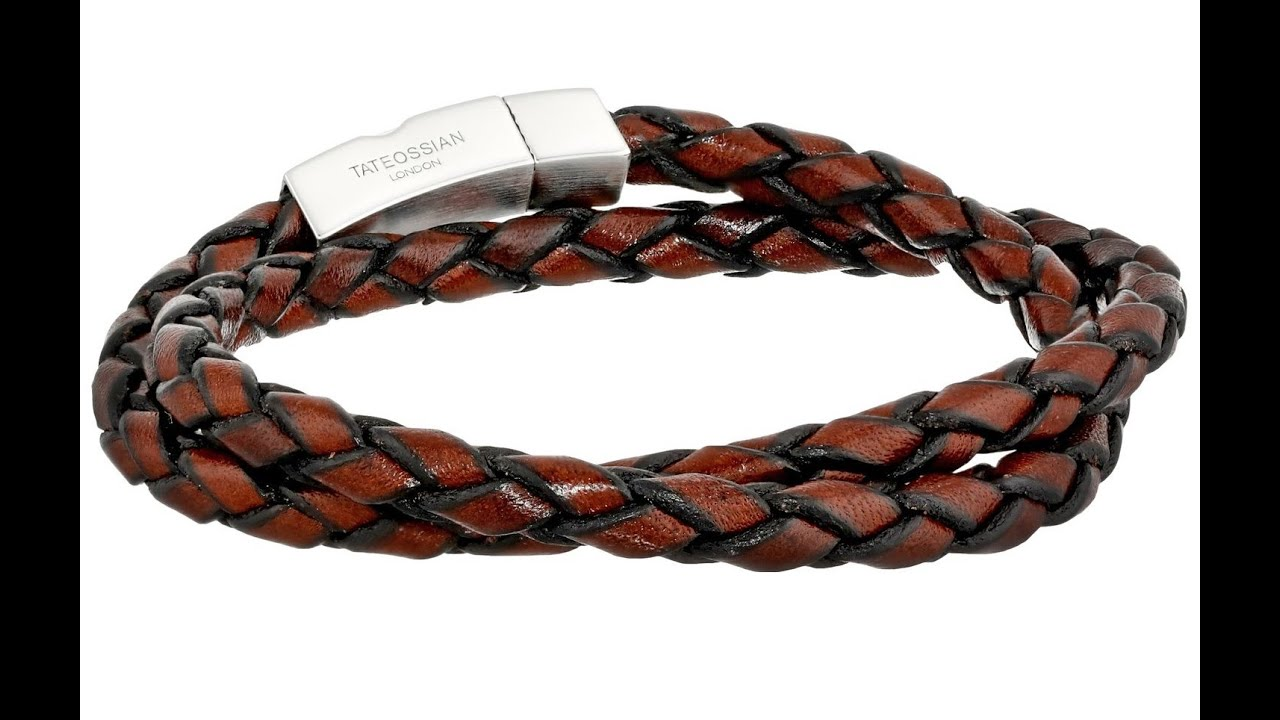 Tateossian Men S Scoubidou Leather Double Wrap Bracelet