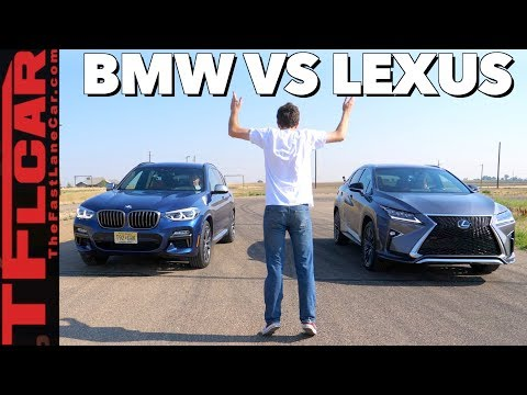 Compared: 2018 Lexus RX 350  vs BMW X3 Mashup Review & Drag Race!