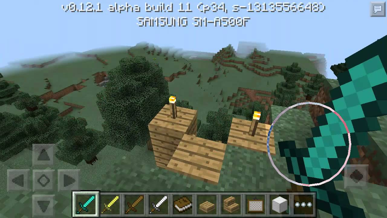 Minecraft pe map cool tree house youtube for Modern house minecraft pe 0 12 1