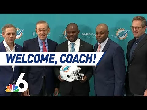 UNCUT: Welcome Aboard! Miami Dolphins Name Brian Flores as Head Coach | NBC 6