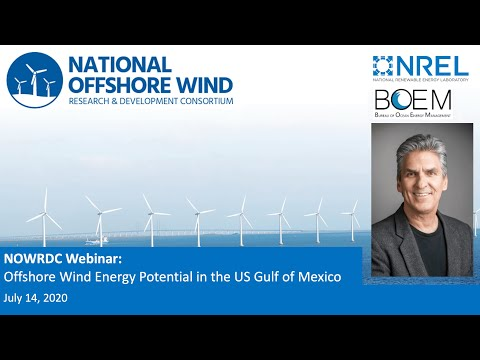 Live Recording: Webinar - Offshore Wind Energy Potential in the US Gulf of Mexico