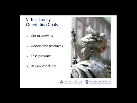 Virtual Family Orientation:  Student and Family Support